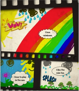 Ella rainbow comic