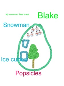 snowman plate 2