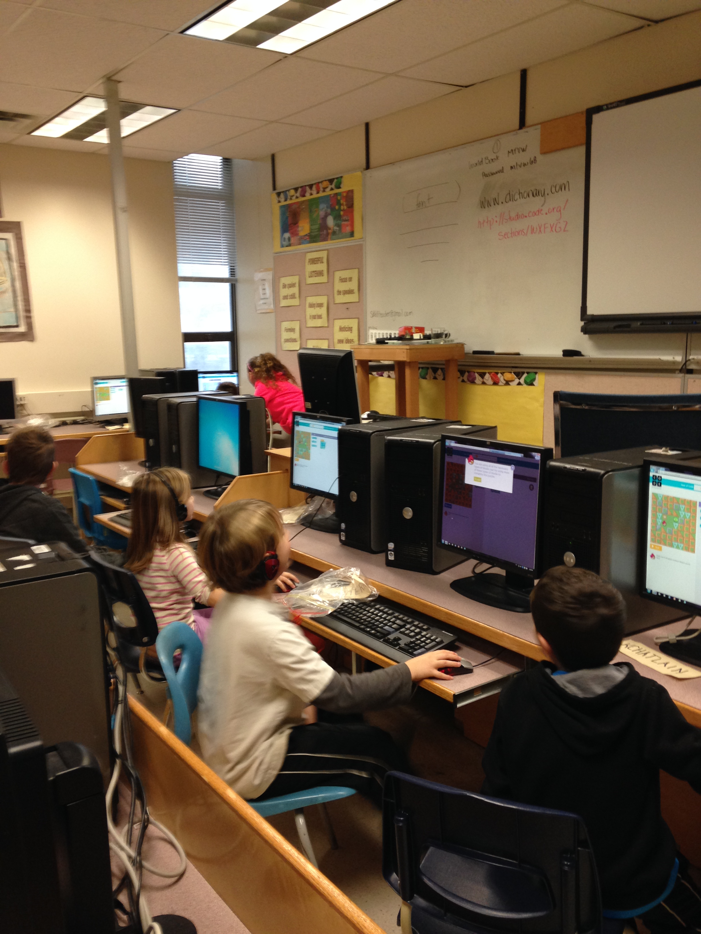 More Hour of Code Fun with Elsa!   Mrs  Anton's Class!